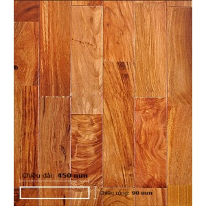 Sàn gỗ Gõ Đỏ 450 mm